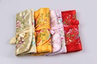Wholesale Suzhou embroidery multi function receive cosmetic bag bag jewelry bag national embroidery package