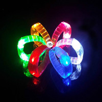 Wholesale Light Up Bracelet LED Glow Bracelet flashing bracelet Flashing Silicone Bracelets LED Toys For Christmas birthday Party Supply Mix order