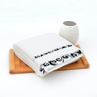 Wholesale Pure cotton towel to wash a face towel contracted pattern is pure white comfortable soft towel