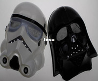 Wholesale Halloween Festival horror mask Star Wars the Darth vader mask black and white color