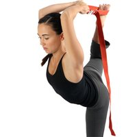 Wholesale Yoga Yoga Belts deluxe extra long cotton yoga strap with D ring yoga kid yoga