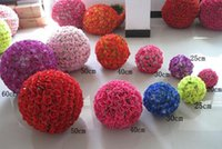 Wholesale wedding and party Artificial Encryption Rose Silk Flower Kissing Balls Hanging Ball Christmas Ornaments Wedding Party Decorations
