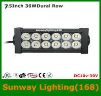 Wholesale 7 inch W quot LED Work Light Bar Spot Flood Combo Spot Beam Lamp ATV Boat Jeep Truck SUV Car Working Light