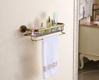 bar caddy - NEW Bathroom Antique Brass Storage Shelf Shower Caddy Storage With Towel Bar