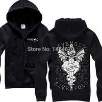 avenged sevenfold hoodies - Sword Heart Avenged Sevenfold A7X Band Cotton Rock Hoodies jacket high quality punk hardrock sweatshirt zipper fleece
