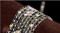 Wholesale 1 meter mm pink purple crystal chain AB gradual blending three silver rhinestone claw chain claw end DIY Accessories