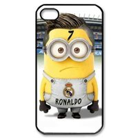Wholesale Cristiano Ronaldo Iphone Cover - New hot one Minion cristiano ronaldo custom fashion for iPhone 4 4S 4G 5 5S Galaxy S4 S5 Note 2 3 back cover