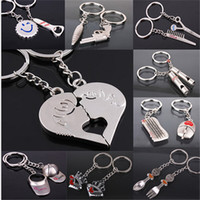animal crossing hats - 12 style Fashion keychain pendants Silver Plated Kiss Love Heart Couple Key Ring Keychain Llaveros Comb Scissor Whistle Hat Chaveiros