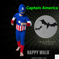 american captain costume - American Styles Funny Party Captain America Costume For Children Cosplay Costume Carnival Costume The Avengers Superhero Costume