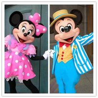 Wholesale 2015 High quality Mickey Mouse mascot costume Mickey mascot Minnie mascot Minnie mascot pink dress