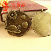 aerospace sales - 40 MM Antique Bronze Aerospace pendant charm beads gear DIY manual material new sale charms novelty charms