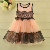 beautiful dress - Lace Dresses Girls Beautiful Flower Lace At the Waist and Hem Dresses Girl Gauze Princess Dress Baby Fashion Dresses