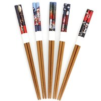 Wholesale Pairs Eco friendly Cat Chopsticks Japanese Wood Lacquer Chopsticks Gift