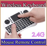 Wholesale 30X Wireless Keyboard rii mini i8 keyboards Fly Air Mouse Multi Media Remote Control Touchpad Handheld for TV BOX Android Mini PC FP