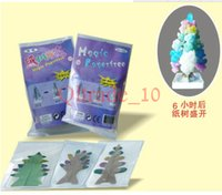Wholesale 1000PCS LJJH1012 Paper Christmas tree flowering tree magic toys magic paper paper sculpture Stereoscopic artificial snow tree flowering tree