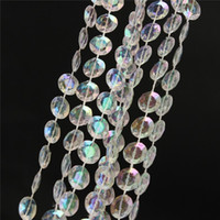 Wholesale New Arrival PC M Garland Diamond Strand Acrylic Crystal Bead Curtain Wedding DIY Decor order lt no track