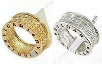 Wholesale 18K Gold Plated Crystal Rhinestone Elements Row Wedding gift Ring