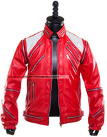 beat it jacket - Fall XS XXXL Michael Jackson Costumes MJ Beat It leather jacket coat men s new stage singer costumes clothing