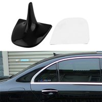 Wholesale New GPS Style Shark Fin Adhesive Decorative Dummy Antenna Aerial Roof Style For Benz car styling Black