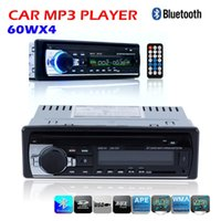 Wholesale 12V Bluetooth Car Stereo FM Radio MP3 Audio Player V Charger USB SD AUX APE FLAC Car Electronics Subwoofer In Dash DIN