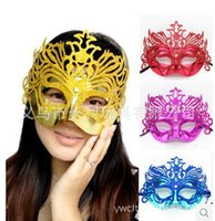 Wholesale gold shining wedding party mask carnival bridal costume masquerade ball prop novelty sexy lady costome mix color half face 316