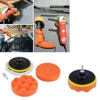 adapter polish - New inch Buffing Pad Auto Car Polishing sponge Wheel Kit With M10 Drill Adapter Buffer hot selling
