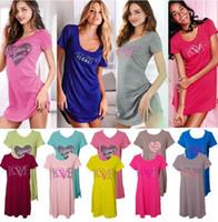 cotton nightgown - Women Pajamas Multicolor New Women Nightdress Cotton Nightgown Cute Short Sleeved Pajama Women s Home Clothes Sleepwear