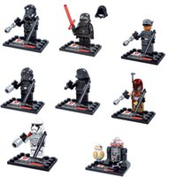 Wholesale Star Wars awakening the force Building Blocks Sets Models Figure Toys Minifigures Kylo Ren BB Darth Vader