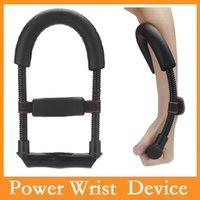 Wholesale Steel Power Wrist Arm Training Device Forearm Force Flexor Hand Gripper Fitness Muscular Strengthen Sport Accessories Via DHL