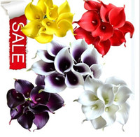 Wholesale Hot Sale Latex Callas cm Elegant Silicon Artificial Egyptian Calla Lily Alocasia Plumbea Flower for Wedding Bridal Decorations