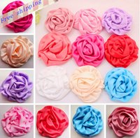 floral supplies - 20 Satin Rolled Rosettes flower DIY craft Hair Accessory baby accessories children s hair accessories Supplies