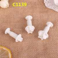 Confectionery - 3Pcs A Set Cookie Cutter Embossing Moon Cake Mold Mastic Forms For Cookies Pastry Press Cake Decorating Confectionery Tool