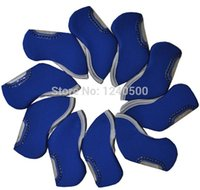 Wholesale 10 BLUE color Branded Golf Iron Head Covers HeadCovers