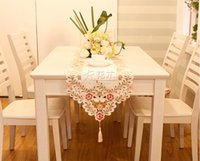 Wholesale Special offer European classical Hand Hollow embroidery Satin cloth Lengthen dinner table tea table runner