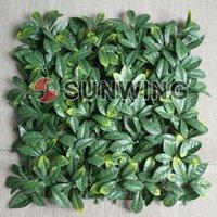Wholesale cm cm Artificial Plastic Grass Mat Osmanthus Leaf Outdoor Fake Plants Boxwood Hedge ST06089