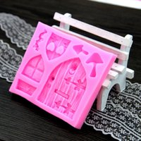 Wholesale The New D Cartoon House Cake Decorating Silicone Molds Fondant Tools D Silicone Chocolate Mould Cake Decor FM020