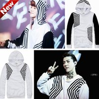 Cheap Wholesale-New!!!Best EXO SEHUN LUHAN Overdose hoodies EXO overdose 2015 Glitter Maze side zipper Personalized hoodies for man&women