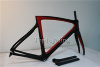 carbon fiber bicycle frame - 2015 carbon road frame T1000 black red carbon road bike frame frameset glossy finish Carbon fiber bicycle frame BB68 BB30 EMS