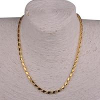 Al por mayor-Nueva manera del estilo de moda chapado en oro Bilaye collares de cadena simple delicado Pin-forma Mujeres Collares
