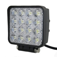 Wholesale Automotive Led Light W Square Led Work Driving Spot Light Waterproof Floodlight Car Tractor Truck SUV Boat Jeep Offroad Driving Work Light