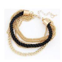 Wholesale Moodeosa Handmade Gold Chain Braided Rope Multilayer Bracelet Bangle Chain Freeshipping
