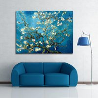 Wholesale Blossoming Almond Tree By Van Gogh Oil Painting Printed On Canvas Home Art Decor