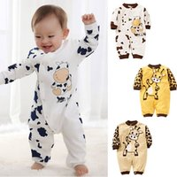 Wholesale Cute Cow Newborn Girls Boys Clothes Baby Outfit Infant Romper Clothes M AU