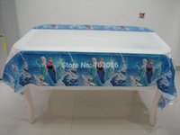 Wholesale frozen PE rectangle tablecloth for birthday party festival banquet decoration