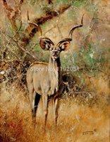 antelope animal - Animals antelope canvas painting leopard portrait modern decoration art frameless mural prints