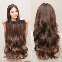 Wholesale Hot sell Hair Piece A chip long hair extensions Fast Shipping Good Quality Hair Lace Closures Natural Color Lace Frontal Closure