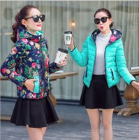 Wholesale 2015 New Fashion Lady Both Sides Wear Winter Down Parkas op Quality Women Down Jacket Hooded Down Jacket