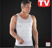 Cheap Mans Vest Corset Men Slimming Vest Shirt Corset Body Shaper Fatty Black White S M L XL XXL 2 colors