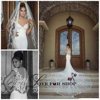 galia lahav wedding dresses - Galia Lahav Luxury Style_ Mermaid Wedding Dresses V_Neck Cap Sleeve Lace Tulle Chapel Train Bridal Gowns Custom Made WH1123