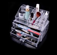 acrylic organiser - Cosmetic Make Up Clear Acrylic Organiser Sections with Drawers Display Makeup Box storage drawers CO02